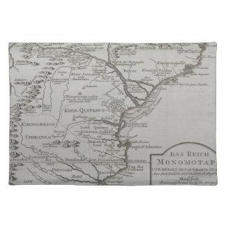 モザンビーク、アフリカの地図 ランチョンマット