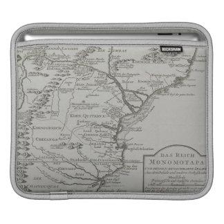 モザンビーク、アフリカの地図 iPadスリーブ