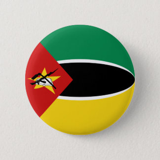 モザンビークFisheyeの旗ボタン 5.7cm 丸型バッジ
