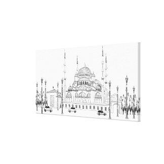 モスクによる交通 キャンバスプリント