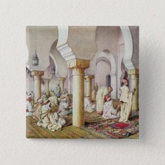 モスクの祈りの言葉、1884年 5.1CM 正方形バッジ