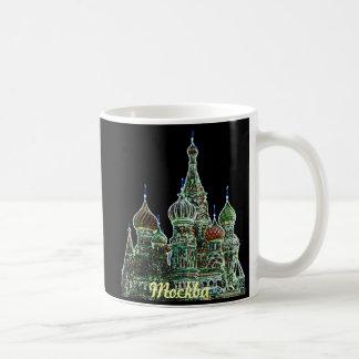 モスクワのネオン コーヒーマグカップ