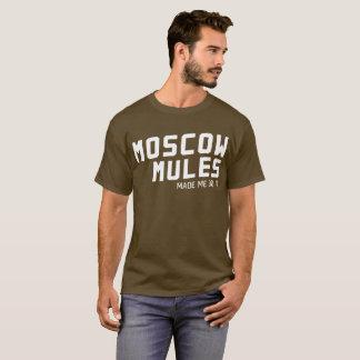 モスクワのラバは私にユーモアのあるなウォッカのおもしろいそれをさせます Tシャツ