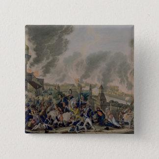 モスクワの焼却、1812年9月15日1813年 5.1CM 正方形バッジ