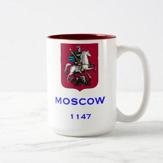 モスクワロシアのカスタムなコーヒー・マグ ツートーンマグカップ