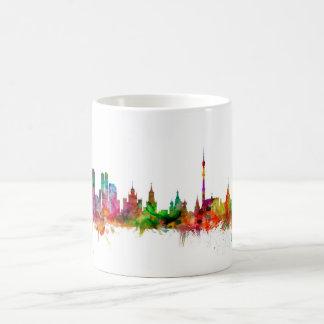 モスクワロシアのスカイライン コーヒーマグカップ