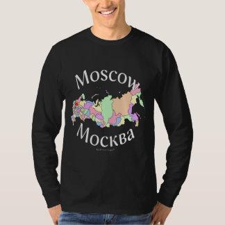 モスクワロシアの地図 Tシャツ