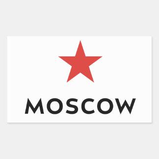 モスクワ旅行荷物のステッカー 長方形シール