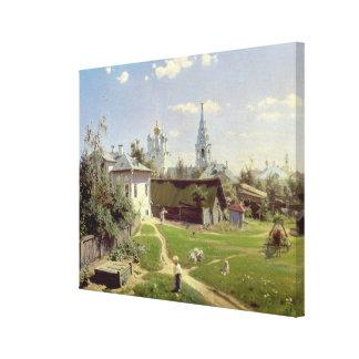モスクワ1878年の小さいヤード キャンバスプリント