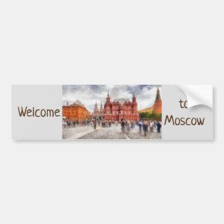 モスクワ、ロシアのManezhnayaスクエア バンパーステッカー