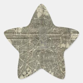 モスクワ(1893年)のヴィンテージの地図 星シール