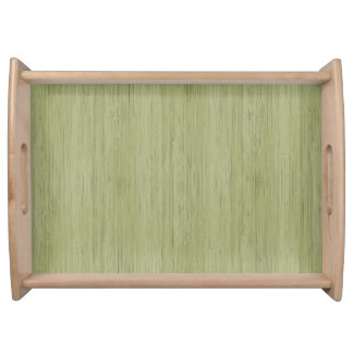 モスグリーンのタケ木製の穀物の一見 トレー