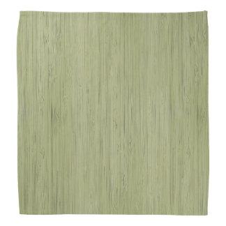 モスグリーンのタケ木製の穀物の一見 バンダナ
