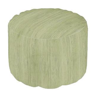 モスグリーンのタケ木製の穀物の一見 プーフ
