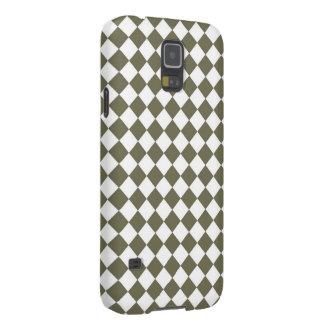モスグリーンのダイヤモンドの点検パターン GALAXY S5 ケース