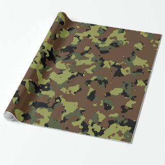 モスグリーンの軍隊の迷彩柄 ラッピングペーパー