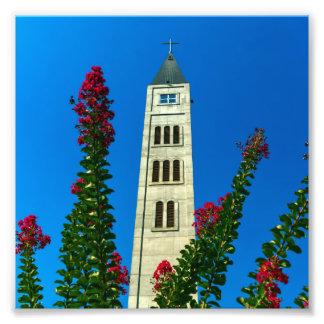 モスタル、ボスニア・ヘルツェゴビナの聖者のルークタワー フォトプリント