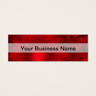 モダンでかわいらしく赤いフラクタルパターン スキニー名刺