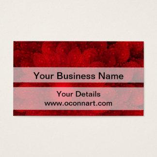 モダンでかわいらしく赤いフラクタルパターン 名刺