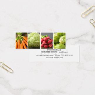 モダンできれいな野菜の写真の栄養士 スキニー名刺