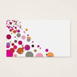 モダンではっきりしたなピンクの水玉模様 名刺