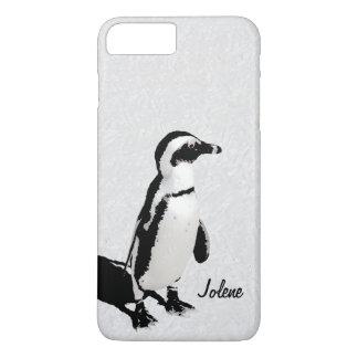 モダンでアートな白黒のペンギン iPhone 8 PLUS/7 PLUSケース