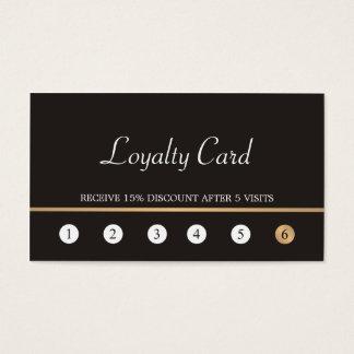 モダンでエレガントで暗く模造のな金ゴールドラインロイヤリティカード 名刺
