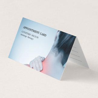 モダンでエレガントで青いマッサージセラピストのアポイントメント カード