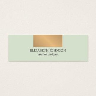 モダンでエレガントで青く模造のな金ゴールドのインテリア・デザイナー スキニー名刺