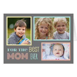 モダンでカスタムな写真の幸せな母の日カード グリーティングカード