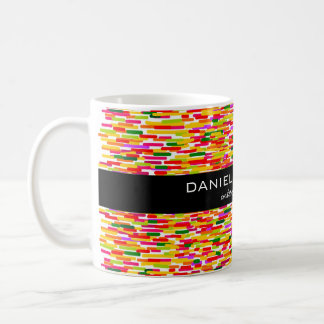 モダンでカラフルなインテリア・デザイナーのブランディング コーヒーマグカップ