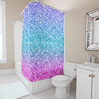モダンでカラフルなグリッターの質のプリント シャワーカーテン