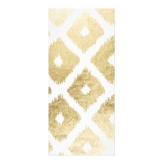 モダンでシックで模造のな金ぱくのイカットパターン ラックカード