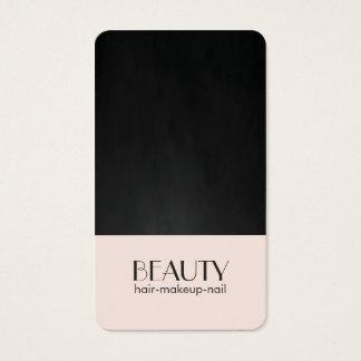 モダンでシックな淡いピンクの質の黒の美しいの毛 名刺