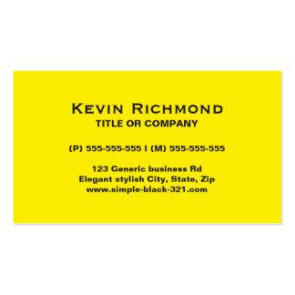 モダンでシンプルで明るく黄色く黒い名刺 スタンダード名刺