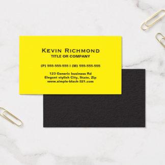 モダンでシンプルで明るく黄色く黒い名刺 名刺