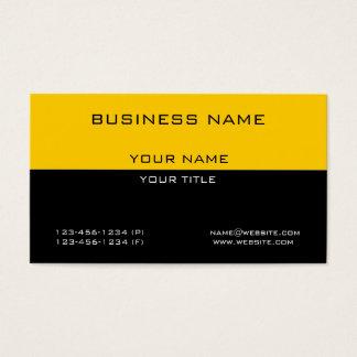 モダンでシンプルな専門の黄色く黒いビジネス 名刺