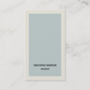 モダンでシンプルな淡いブルーの灰色のコンサルタント 名刺