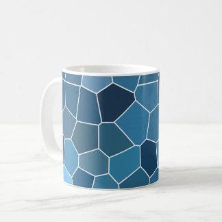 モダンでスタイリッシュで青いパターン コーヒーマグカップ