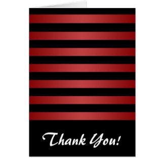 モダンでスタイリッシュで黒いおよび赤のストライプパターン カード