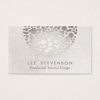 モダンでスタイリッシュなインテリア・デザイナーの銀および灰色 スタンダード名刺