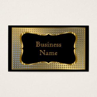 モダンでスタイリッシュなビジネス金ゴールドの黒の金属の一見 名刺