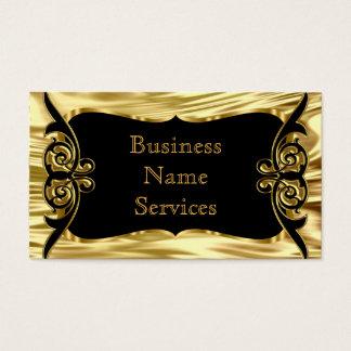 モダンでスタイリッシュなビジネスDecoの金ゴールドの黒 名刺
