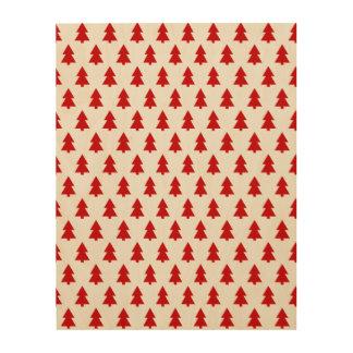 モダンでスタイリッシュな木パターン赤 ウッドウォールアート