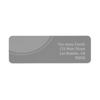 モダンでスタイリッシュな灰色のデザイン ラベル