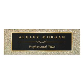 モダンでスタイリッシュな、流行の美しいの金ゴールドのグリッター 名札