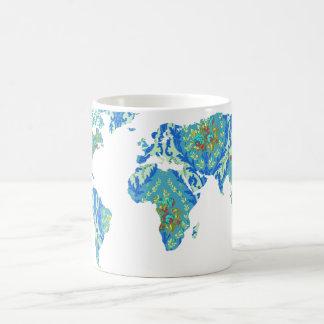 モダンでビクトリアンな世界地図|の世界旅行者のマグ マジックマグカップ