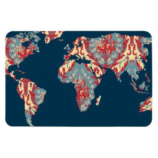 モダンでビクトリアンな世界地図|の世界旅行者の磁石 マグネット