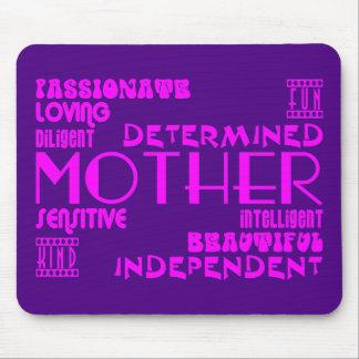 モダンでフェミニンでシックで及びスタイリッシュなお母さん及び母 マウスパッド