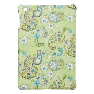 モダンでプレッピーなペイズリー花パターン渦巻フレーム iPad MINIカバー